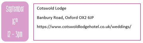 Oxfordshire wedding fairs, autumn wedding fairs, Cotswold Lodge