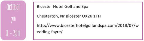 Oxfordshire wedding fairs, autumn wedding fairs, Bicester Hotel Golf and Spa
