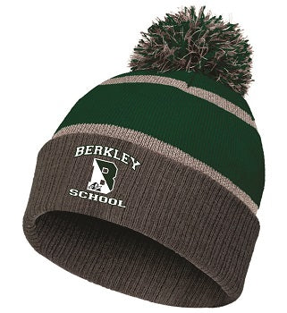 Berkley School Reflective Knit Pom Beanie