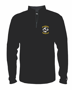 Blackhawks SC Lightweight 1/4 zip Pullover- BLACK