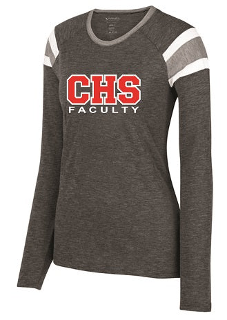 CHS Faculty Ladies Fanatic Longsleeve Tee- Available in 2 Colors