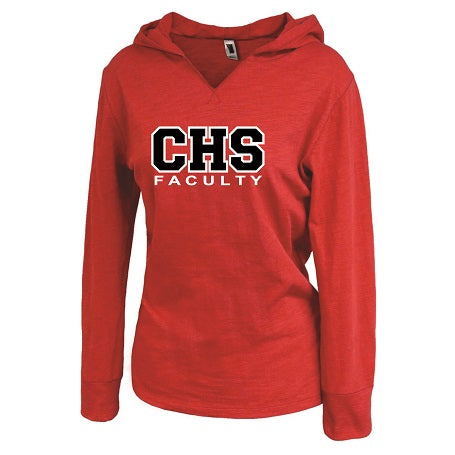CHS Faculty Ladies Lightweight Hoodie- Available in 2 Colors