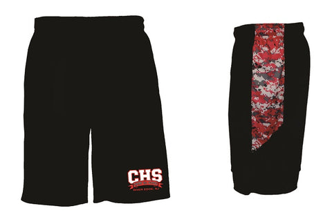 CHS Camo Panel Pocketed Shorts