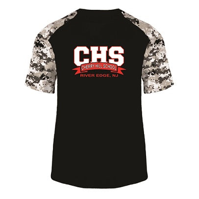 CHS Camo Block Performance Tee- BLACK