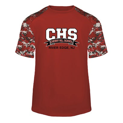 CHS Camo Block Performance Tee- RED