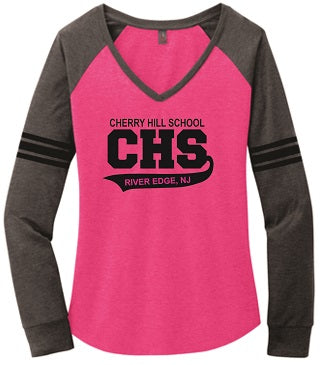 CHS Ladies Longsleeve V-Neck Tee