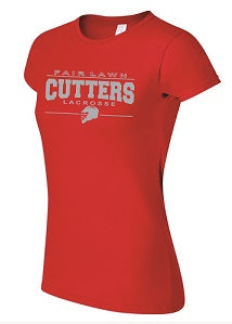 Fair Lawn HS Lacrosse Ladies Soft Cotton Tee- Available in RED and GREY