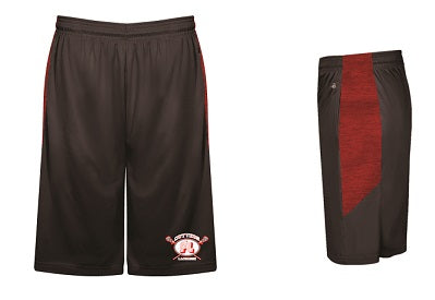 Fair Lawn Lacrosse Blend Pocketed Shorts- GRAPHITE/RED