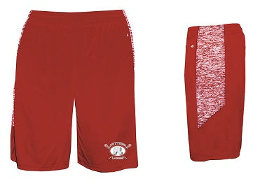 Fair Lawn Lacrosse Blend Pocketed Shorts- RED