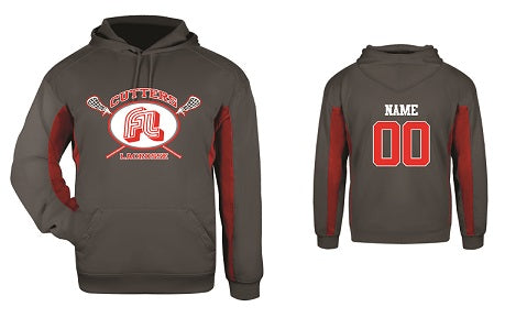 Fair Lawn Lacrosse Performance Hoodie- GREY/RED