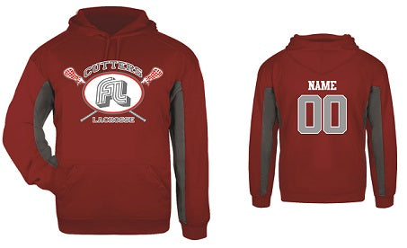 Fair Lawn Lacrosse Performance Hoodie- RED/GREY