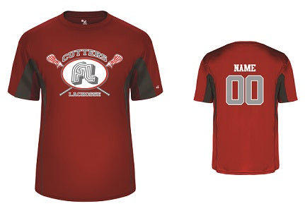 Fair Lawn Lacrosse Performance Tee- RED/GREY