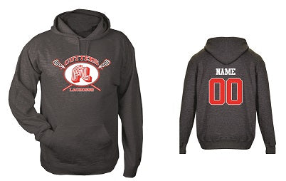 Fair Lawn Lacrosse Cotton Blend Hoodie- CHARCOAL