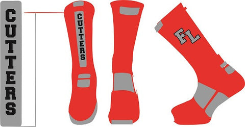 Fair Lawn Lacrosse Performance Crew Socks