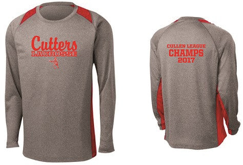 Cutters Lacrosse 2017 League Champs Longsleeve Performance Colorblock Tee