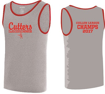 Cutters Lacrosse 2017 League Champs Ringer Tank Top
