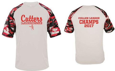 Cutters Lacrosse 2017 League Champs Performance Camo Sleeve Tee