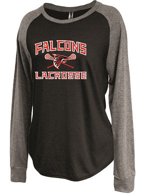 Falcons Lacrosse Ladies Longsleeve Raglan Shirt