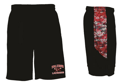 Falcons Lacrosse Pocketed Camo Block Performance Shorts