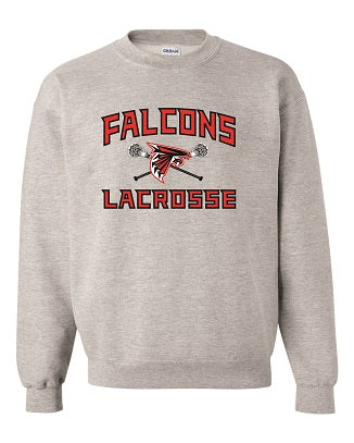 Falcons Lacrosse Crewneck Sweatshirt- AVAILABLE IN 2 COLORS