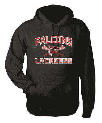 Falcons Lacrosse Cotton Blend Hoodie- AVAILABLE IN 2 COLORS