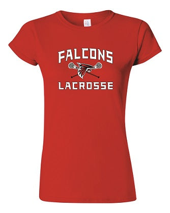 Falcons Lacrosse Ladies Soft Cotton Tee- AVAILABLE IN 3 COLORS