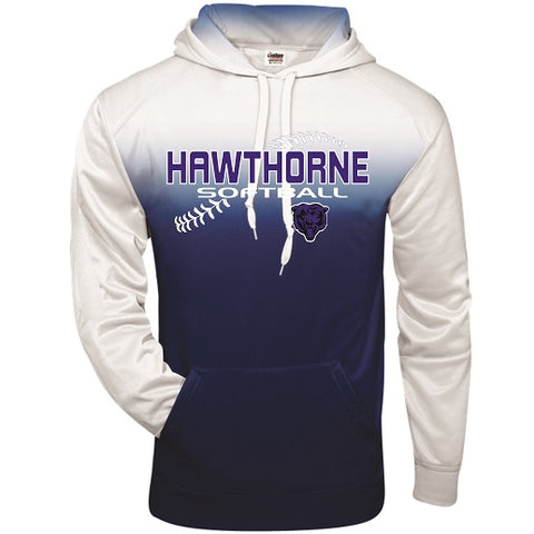 Hawthorne HS Softball Two-Tone Performance Hoodie- Available in 2 Colors
