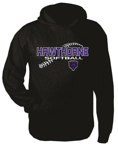 Hawthorne HS Softball Cotton Blend Hoodie- Available in 3 Colors