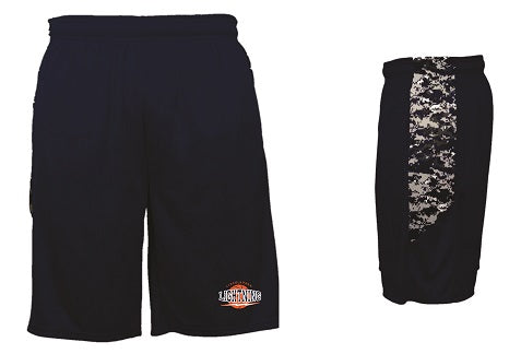 Lincoln Park Lightning Boys Camo Block Shorts- NAVY