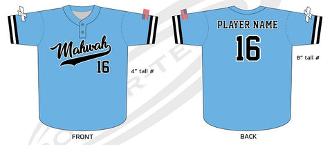 Mahwah Travel Baseball Jersey
