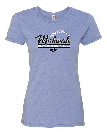 Mahwah Travel Baseball Ladies Soft Cotton Tee- Available in 2 Colors