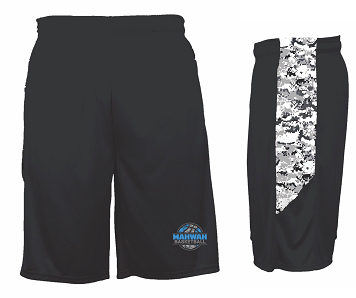 Mahwah Basketball Camo Panel Shorts
