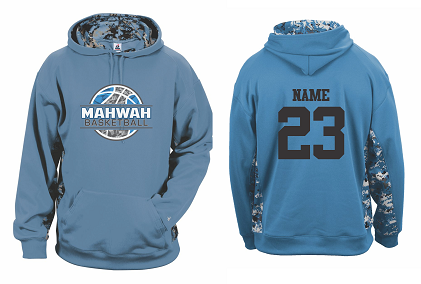 Mahwah Basketball Digital Camo Colorblock Performance Hoodie