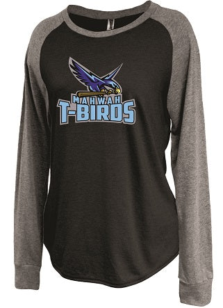 Mahwah Softball Ladies Longsleeve Raglan Shirt- 2 COLORS AVAILABLE