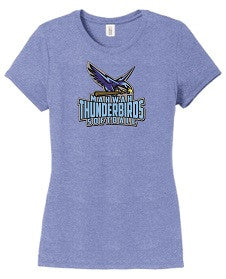 Mahwah Softball ladies' tee- CAROLINA BLUE HEATHER