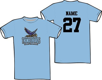 Mahwah Softball Soft Cotton Tee- CAROLINA BLUE