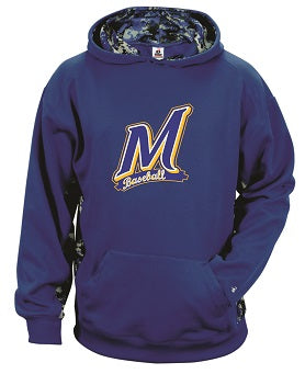 Manville Baseball Camo Panel Performance Hoodie