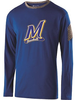 Manville Baseball Electron Longsleeve Performance Tee- AVAILABLE IN 2 COLORS