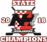 NH Hockey State Champs Wind Shirt