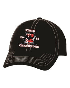 NH Hockey State Champs Cap- BLACK or WHITE