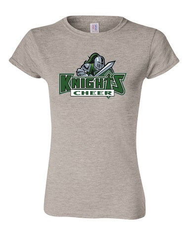 NM Knights Cheer Ladies Cut Tee- Available BLACK or GREY