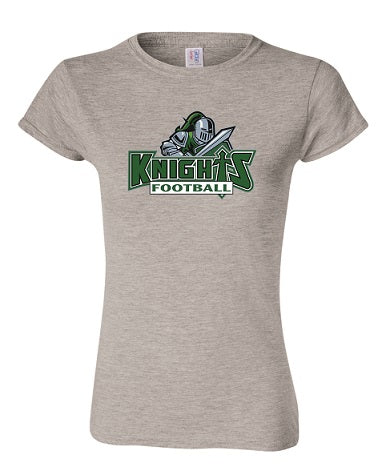 NM Knights Football Ladies Cut Tee- Available BLACK or GREY