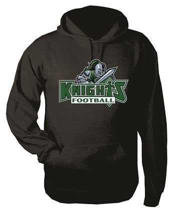 NM Knights Football Hoodie- Available BLACK or GREY