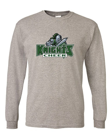 NM Knights Cheer Longsleeve Tee- Available BLACK or GREY