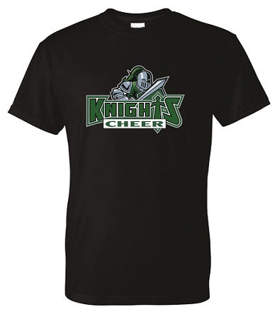 NM Knights Cheer Tee- Available BLACK or GREY
