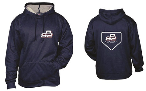PS2 Baseball Pro Heather Hoodie- NAVY