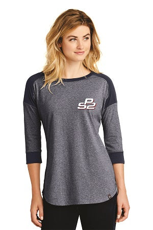 PS2 Ladies Raglan 3/4 Sleeve Shirt