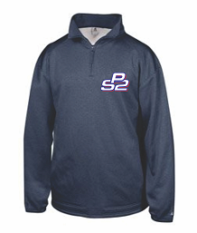 PS2 Baseball Pro Heather 1/4 Zip Performance Fleece- NAVY
