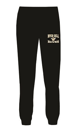 RD Hawks Jogger Pants- BLACK- available MENS & LADIES