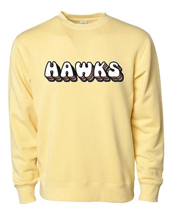 RD Hawks Heavyweight Crewneck Retro Logo Sweatshirt- Available in 2 Colors